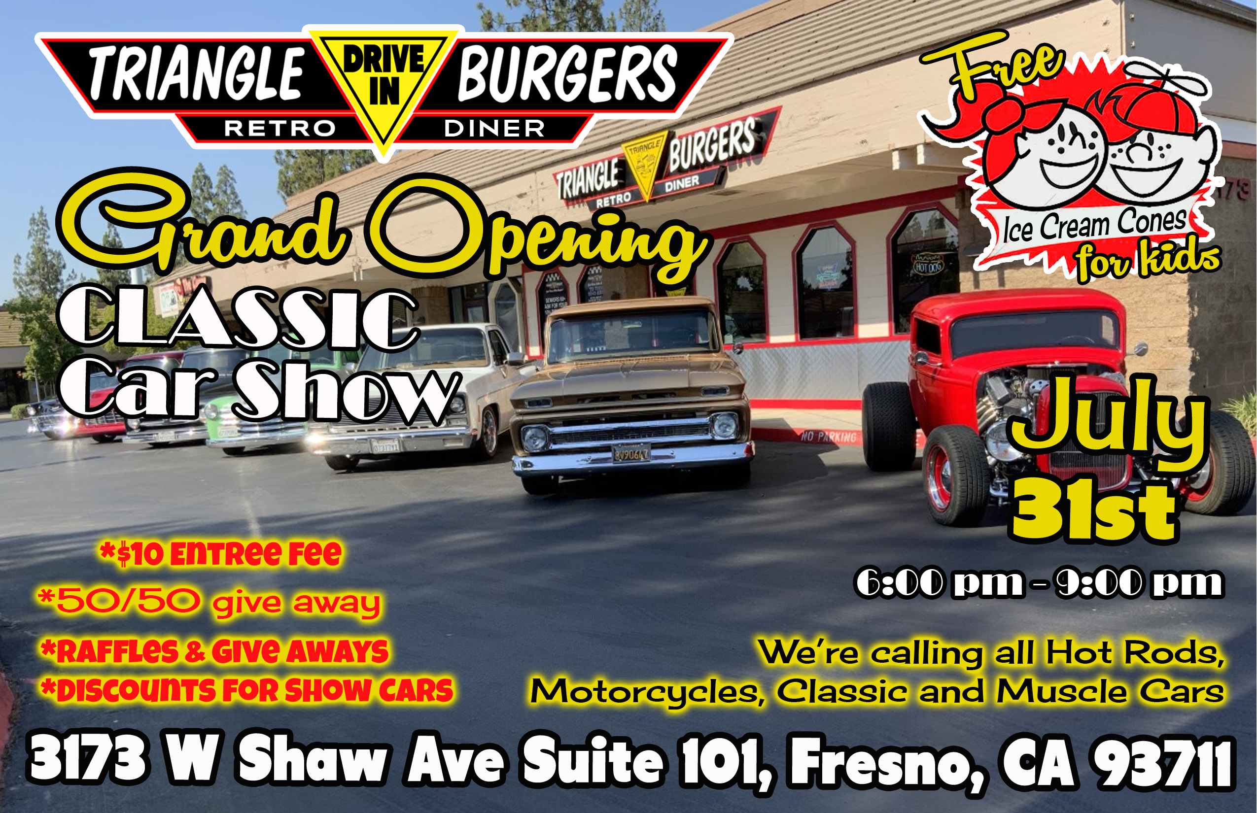New Location for Triangle Drive In at 3173 W. Shaw in Fresno, CA